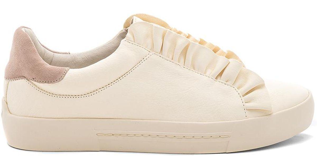 Joie Leather Daw Ruffle Sneaker - Lyst