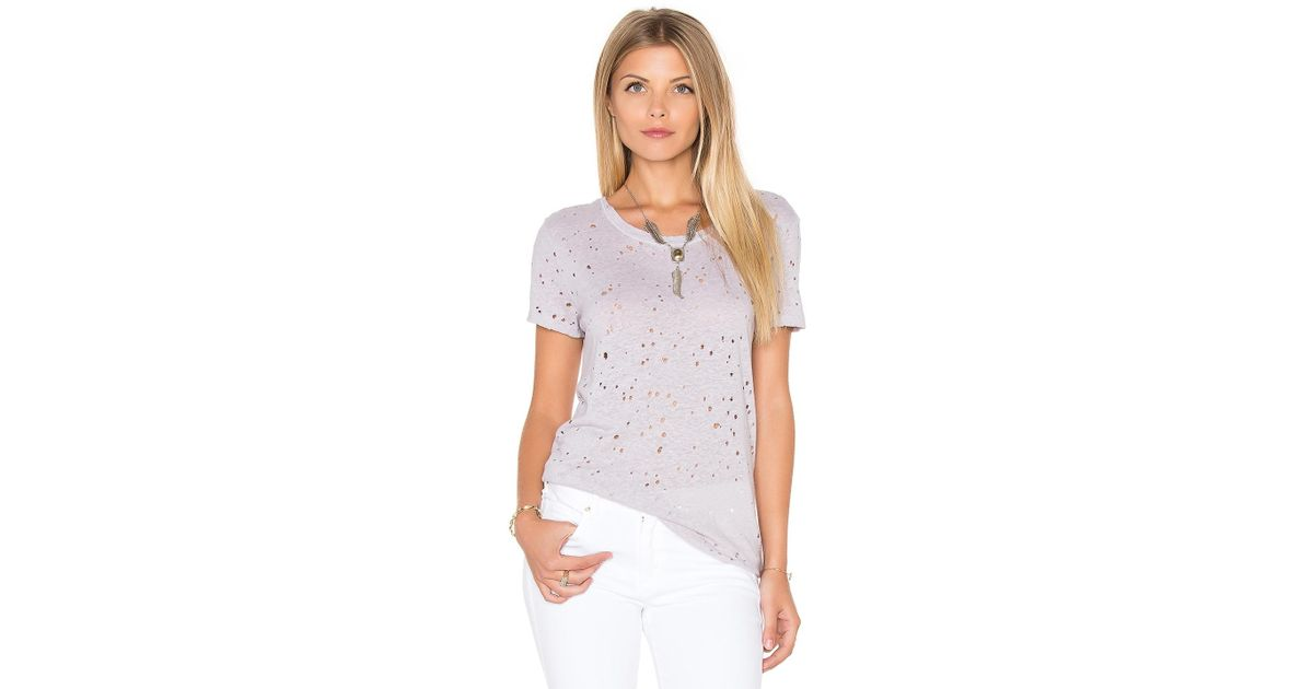 Lyst michael stars ripped texture jersey short sleeve for Michael stars t shirts on sale