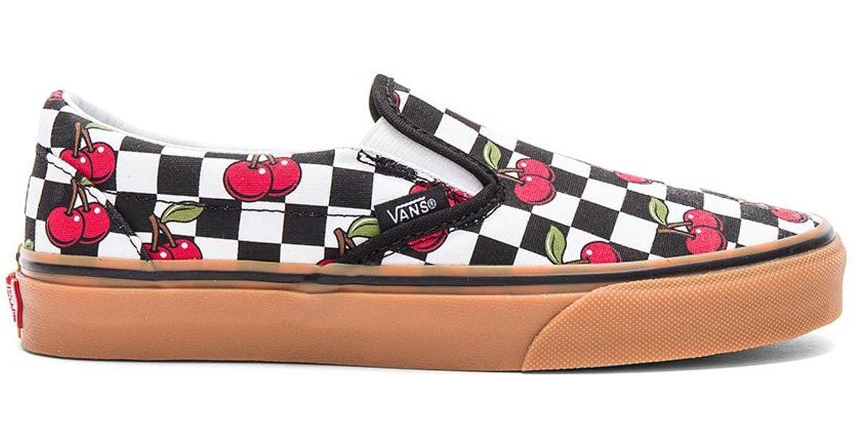 bdb9a686ac Vans Cherry Checker Classic Slip-on - Lyst