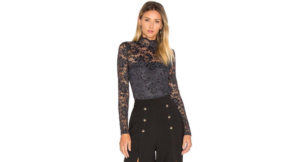 a881b8c5 Ganni Flynn Lace Bodysuit - Lyst
