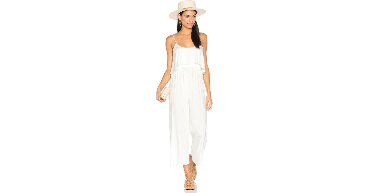 Rachel pally Dillon Jumpsuit in White | Lyst