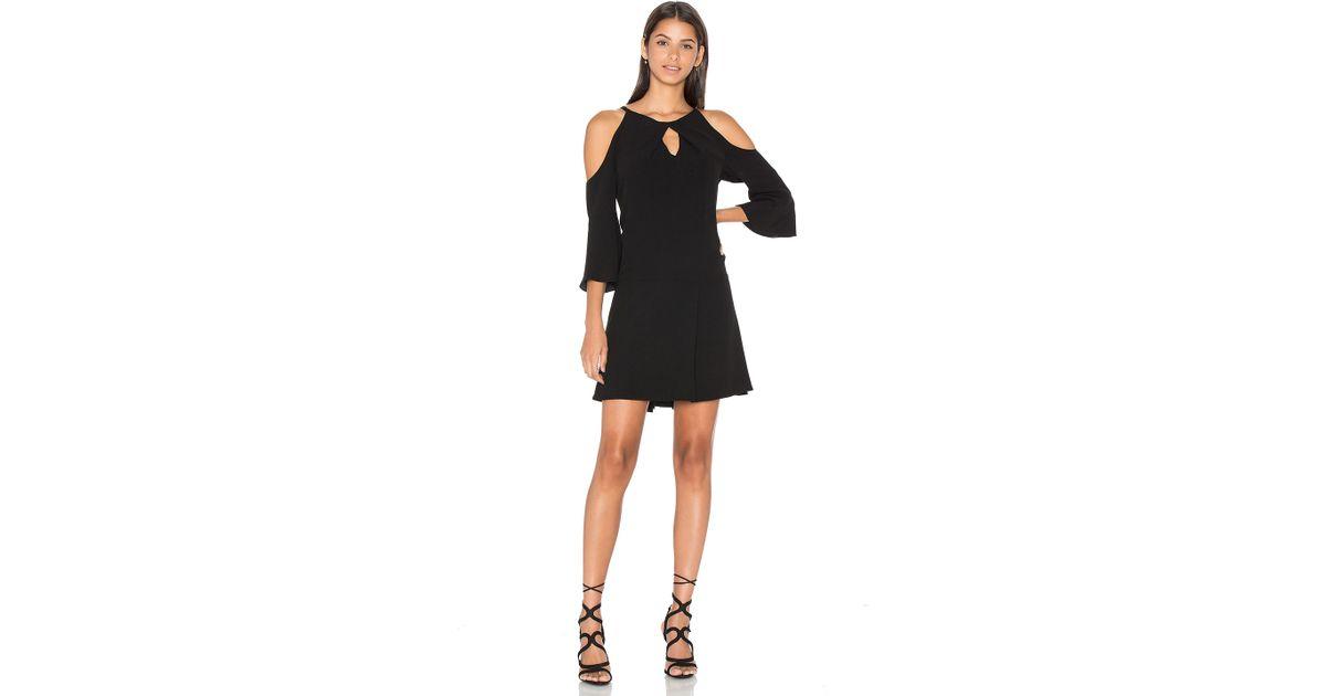 392bb9e414c Lyst - Ramy Brook Evette Cold-Shoulder Crepe Dress in Black