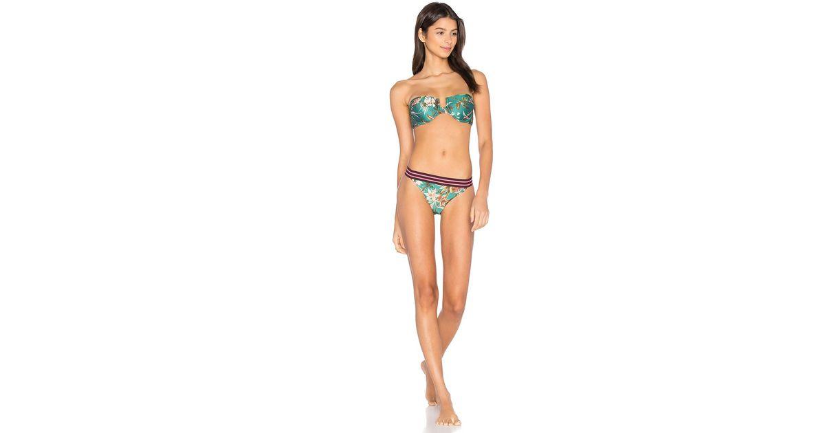 89b4aba5385ea Lyst - Zimmermann Tropicale Balconette Bikini Set in Black