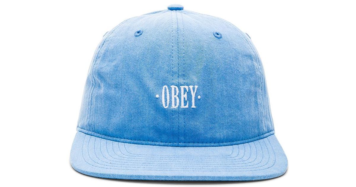 6ff74712573 Lyst - Obey Wilhelm Cap in Blue for Men