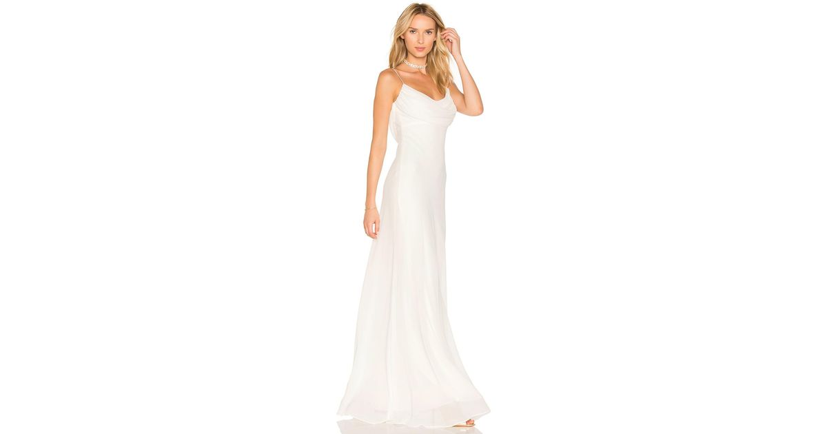 Katie May Synthetic Eden Gown In Ivory White Lyst