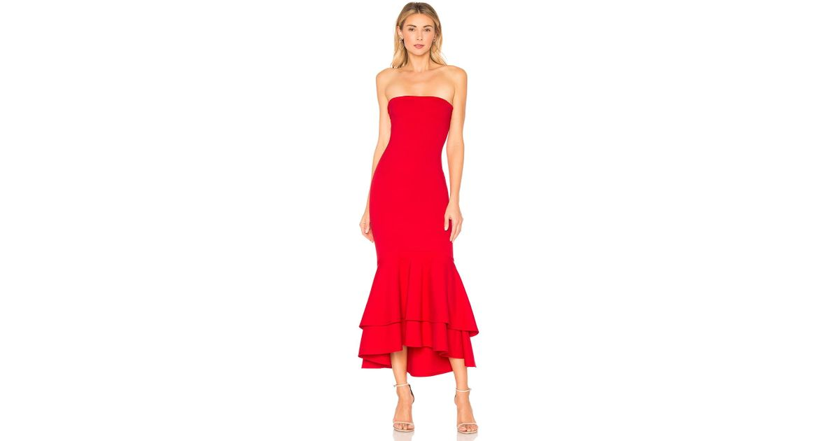 ad1c91d86d Lyst - Lovers + Friends Dillion Midi in Red