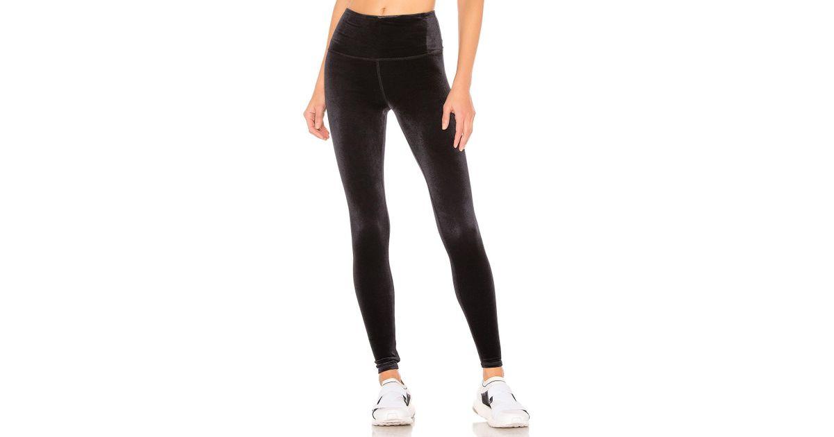 1cb8ca36a8a28 Lyst - Alo Yoga High Waist Posh Velvet Legging In Black in Black