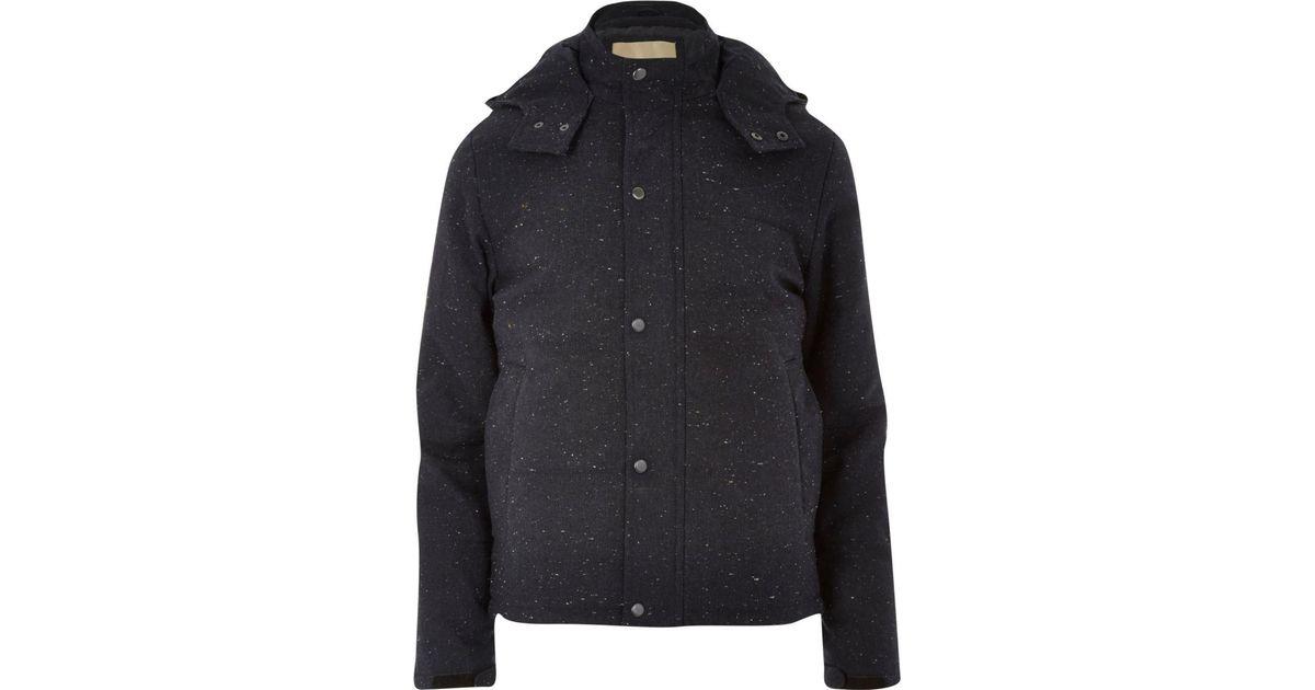20c50f369 River Island Blue Navy Rvlt Wool-blend Jacket for men