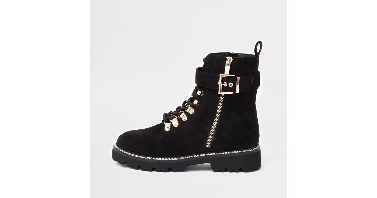 Buckle Lace-up Hiking Boots - Lyst
