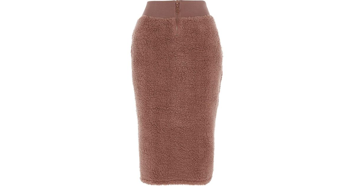 River Island Pink Pencil Skirt