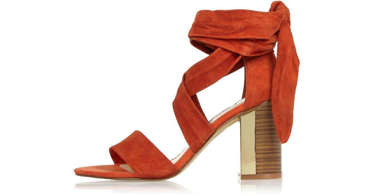 Dark Orange Sandals