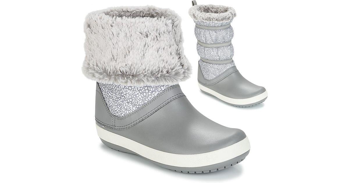 0e29e3e1e77d Crocs™ Crocband Winter Boot W Snow Boots in Gray - Lyst