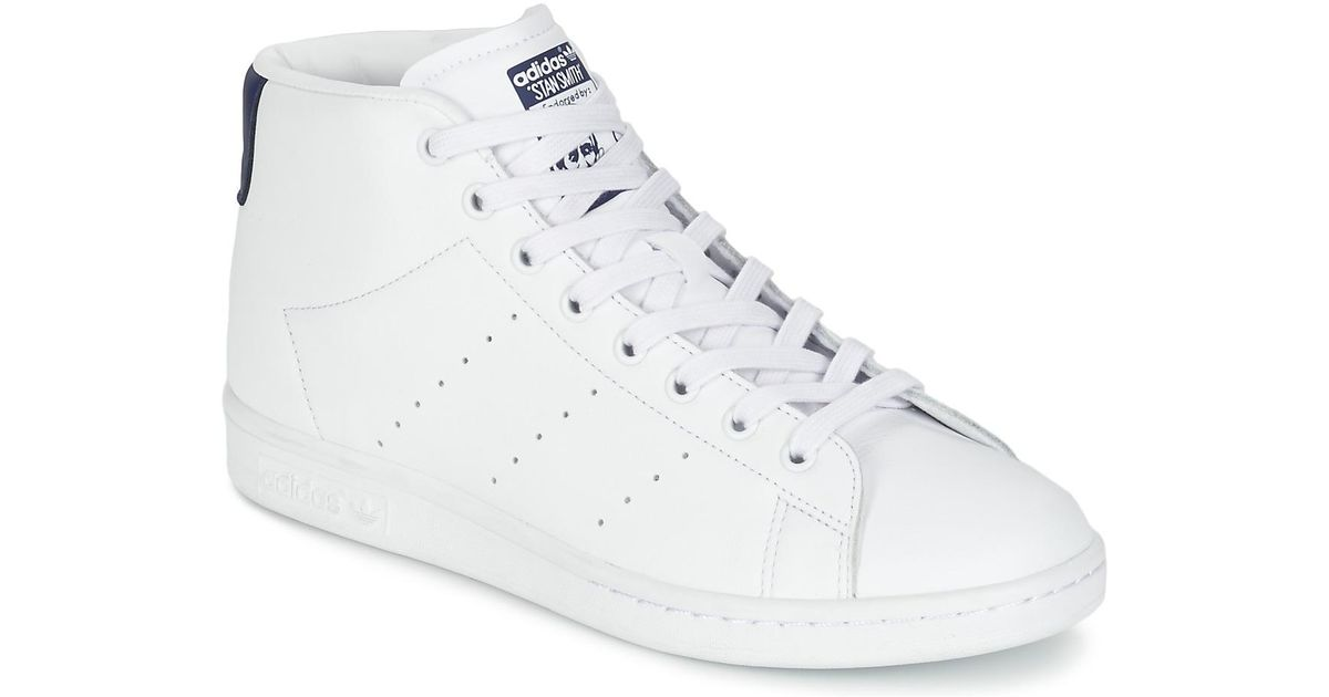 official photos 65cb8 da51a Adidas White Stan Smith Mid Shoes (high-top Trainers)
