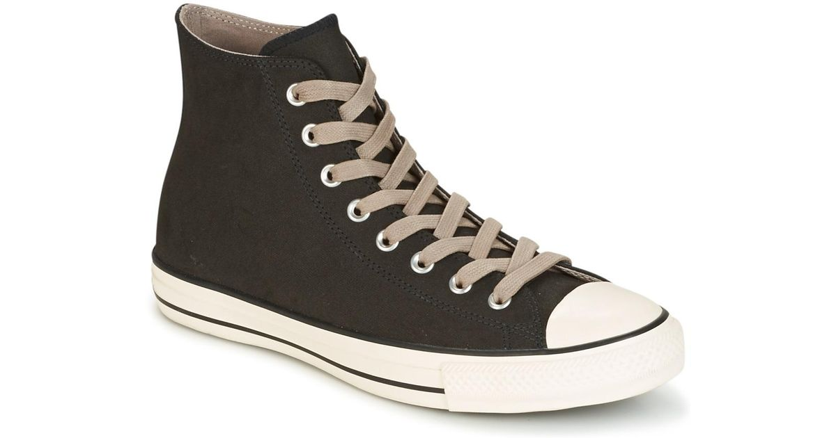 fc2245b8baa3 Converse Chuck Taylor All Star Coated Leather Hi Black malted egret Shoes ( high-top Trainers) in Black for Men - Lyst