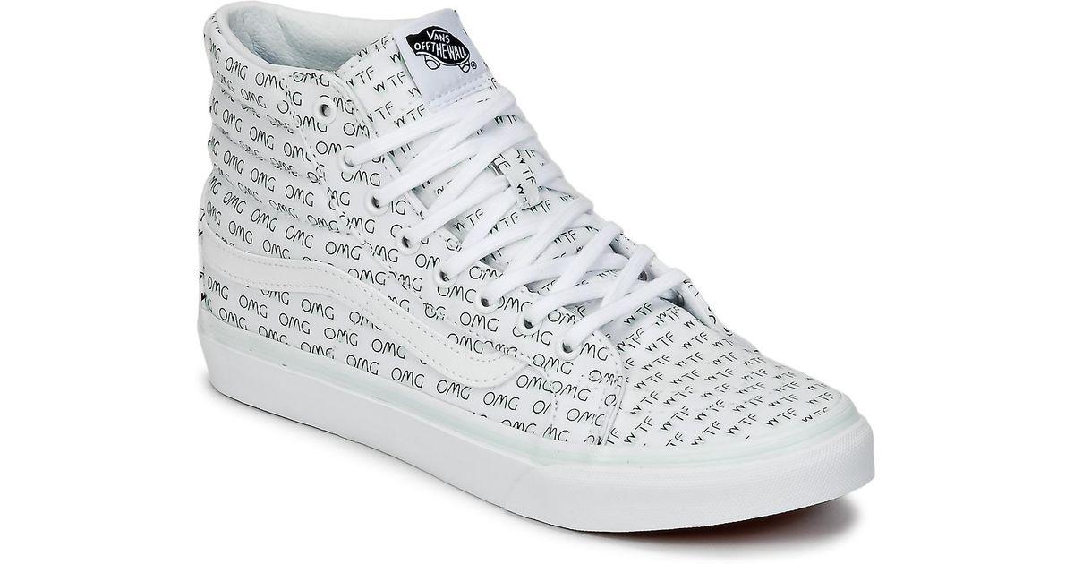 54e0486ae4 Vans Ua Sk8-hi Slim Hi-top Sneakers in White - Save 21% - Lyst