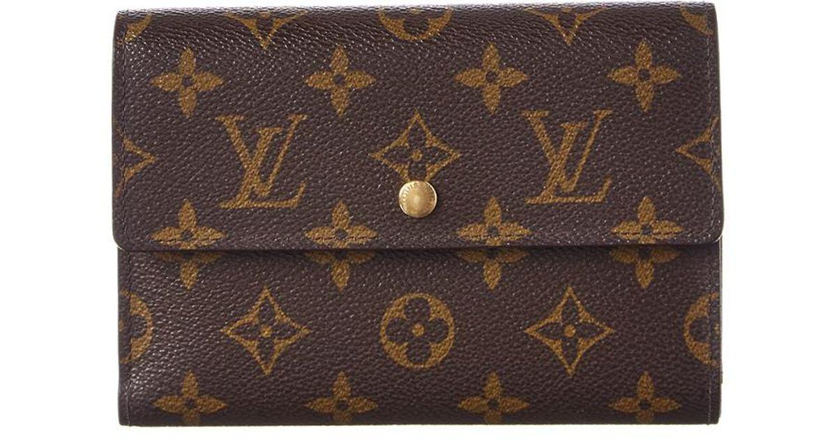91068e4d5ec Louis Vuitton - Brown Monogram Canvas Alexandra Wallet - Lyst
