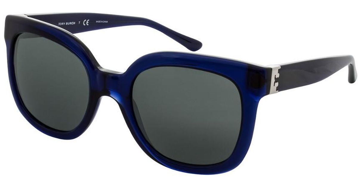 d04c9f6faaa Lyst - Tory Burch Women s Ty7104 54mm Sunglasses in Blue