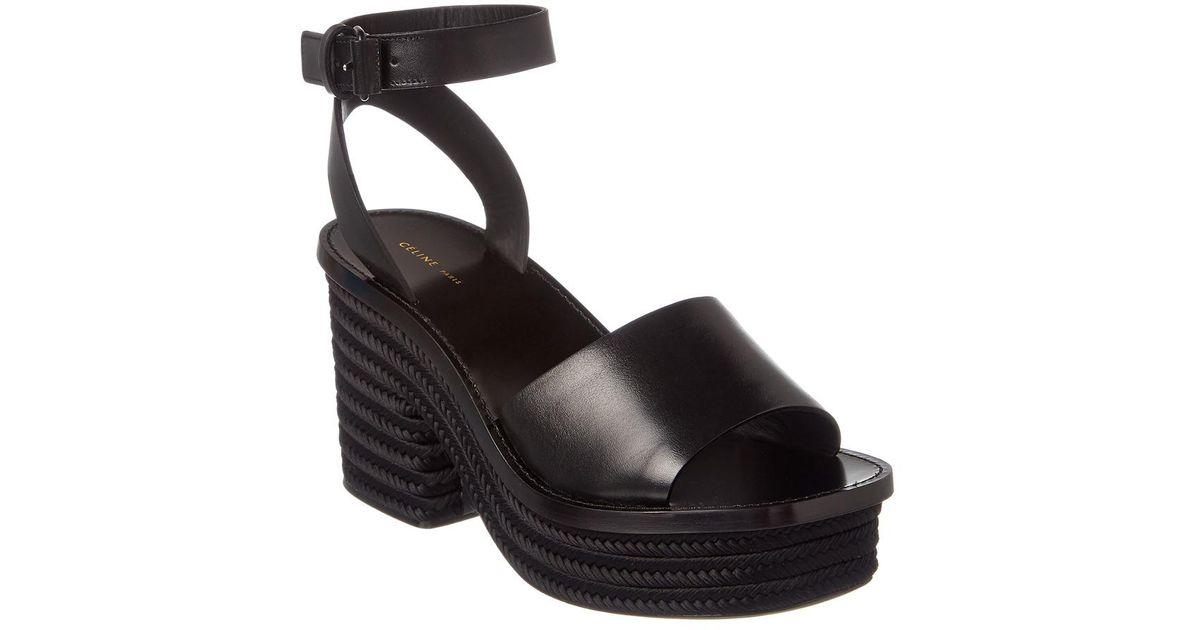 Sandal Céline Braided Leather Black Platform l1Tc3FKJ