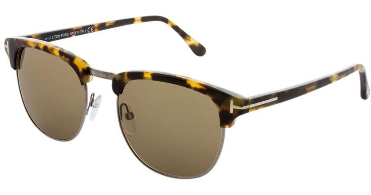 e3ce2a3f910 Lyst - Tom Ford Men s Henry 53mm Sunglasses for Men