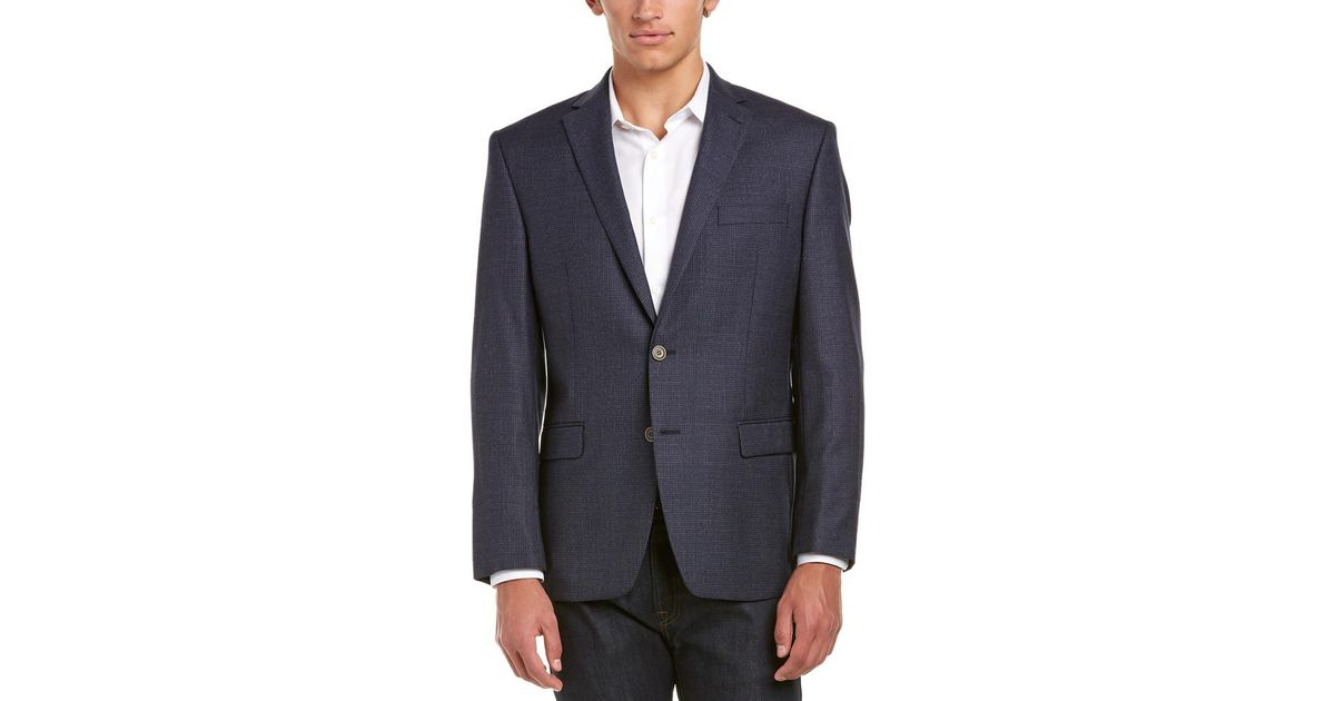 Austin Reed Wool Sport Coat In Blue For Men Lyst