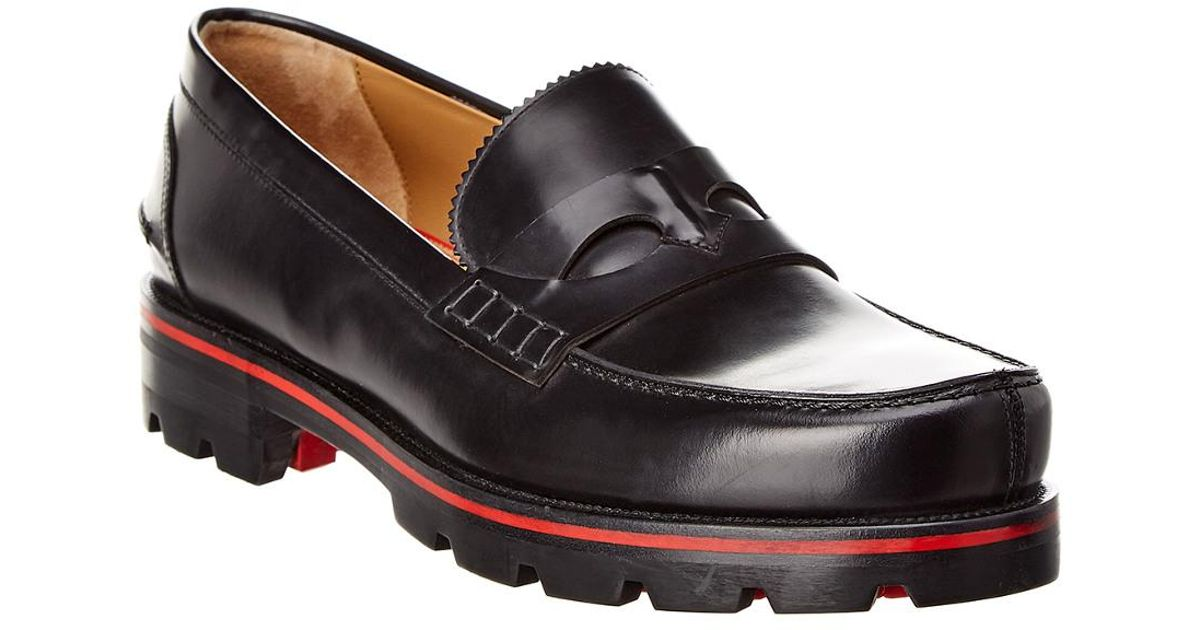 a8e3293cd06 Christian Louboutin - Black Leather Oxford for Men - Lyst