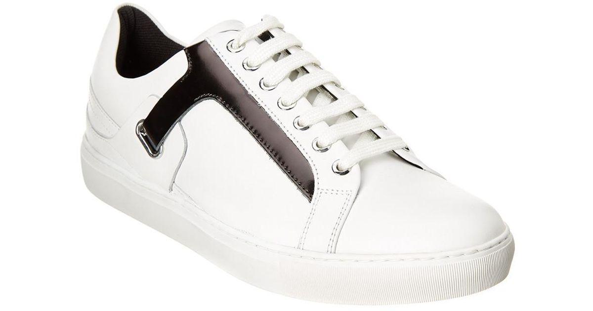 Versace Leather Sneaker for Men - Lyst