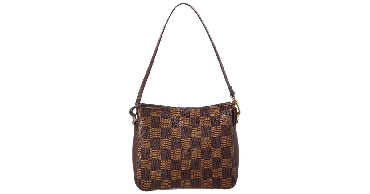 Lyst - Louis Vuitton Damier Ebene Canvas Trousse Cosmetic Pouch in Brown 9d0f4f2ab0