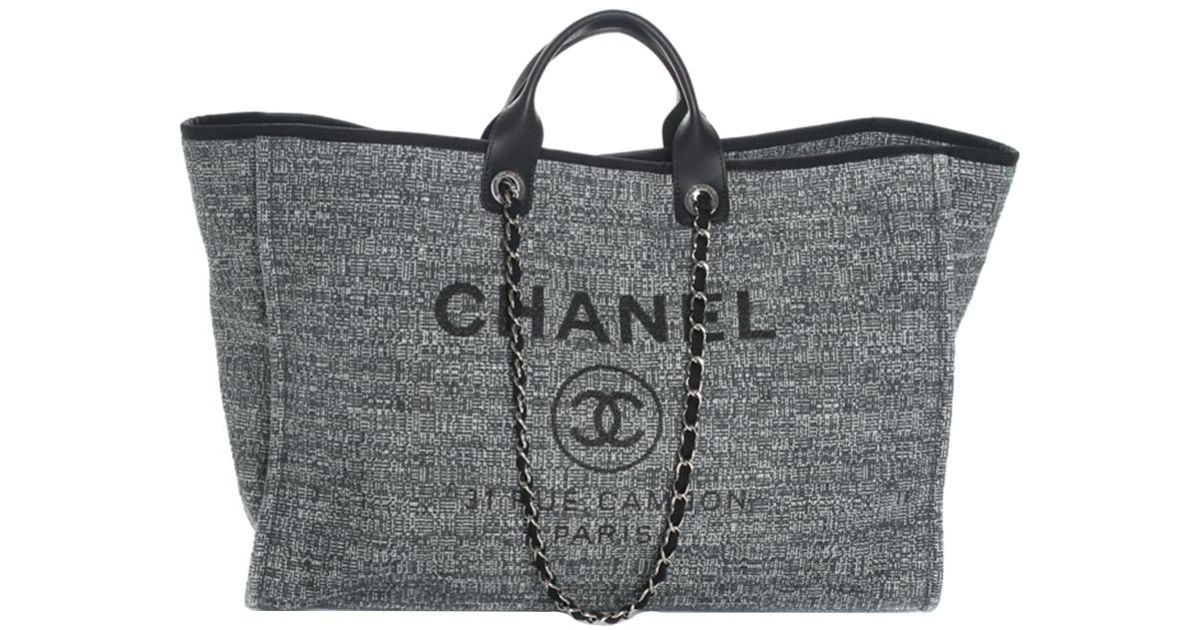 Lyst - Chanel 2018 Limited Edition Blue Canvas Deauville Grande Shopper in  Blue 3512534201ac