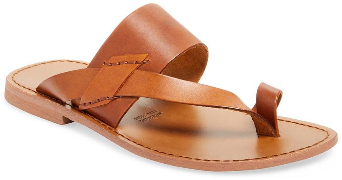 bca804c05 Lyst - Miramare Italia Toe Ring Thong Sandal in Brown for Men