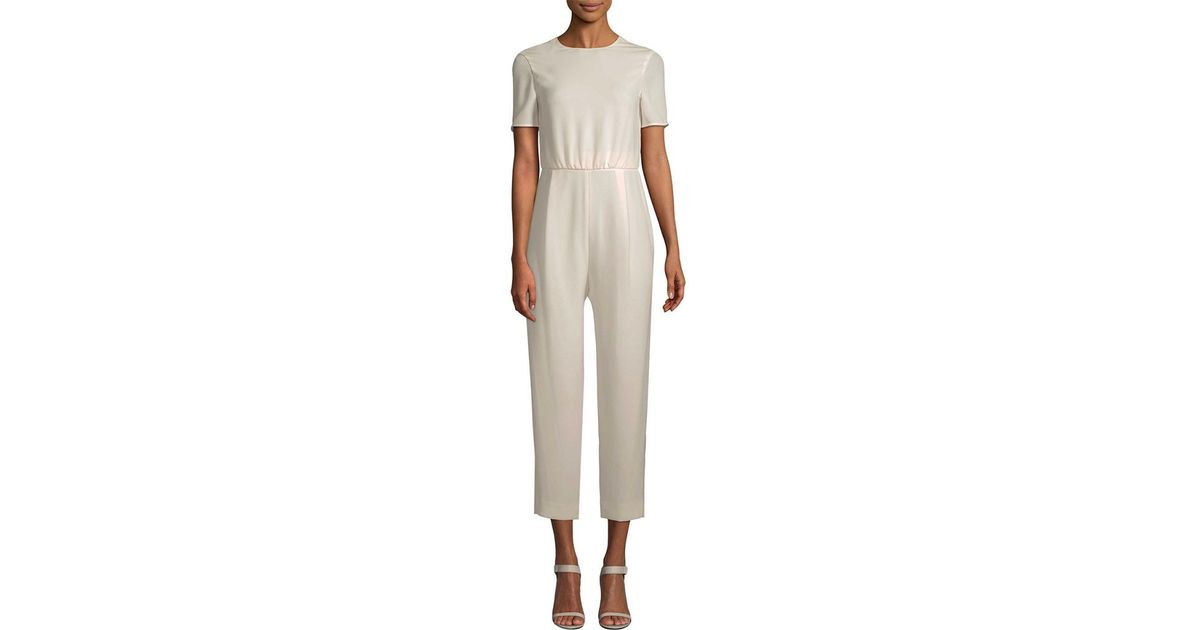Lyst - Max Mara Foce Open-back Jumpsuit in White db9dae762