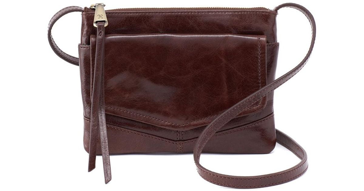 03a2699b51a8 Lyst - Hobo Amble Leather Crossbody in Brown