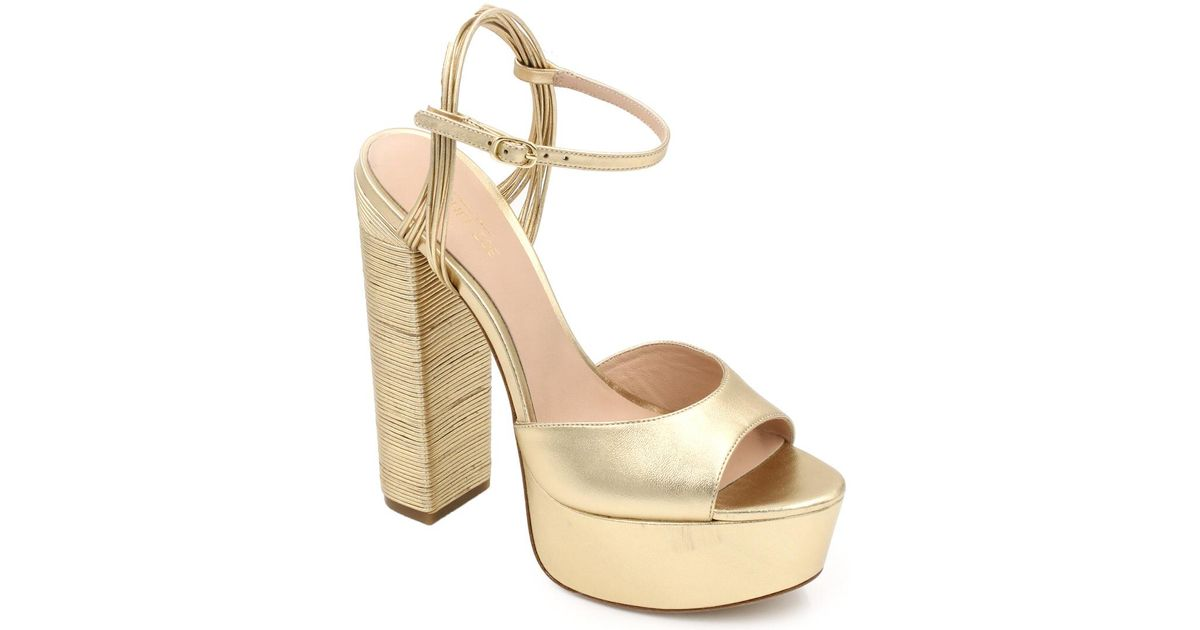 b1df78eccda06c Lyst - Rachel Zoe Willow Leather Sandal in Metallic