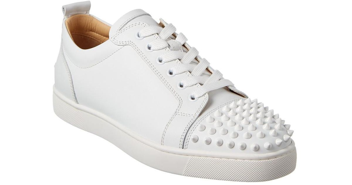 more photos 38232 1d822 Christian Louboutin White Louis Junior Spikes Leather Sneaker for men