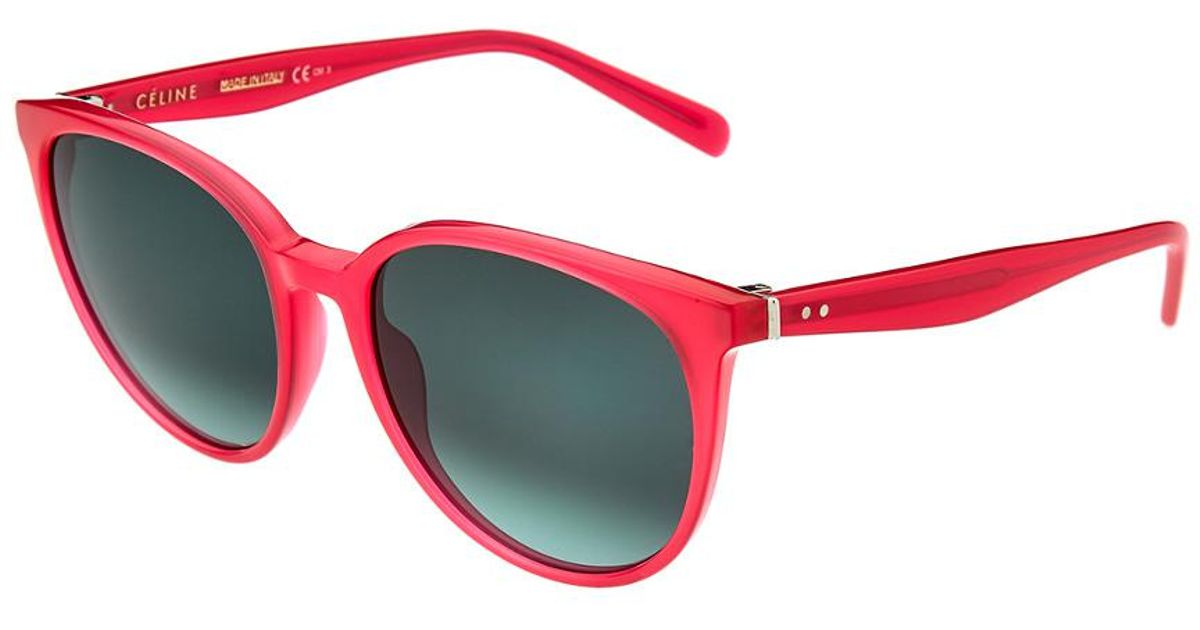 64bab963a08a Lyst - Céline C  line 41068 55mm Sunglasses in Red