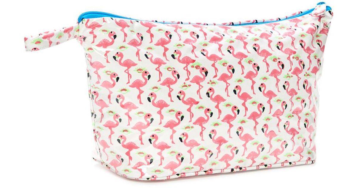 Roberta Roller Rabbit Cotton Leggy The Flamingo Toiletry Case In Pink Lyst