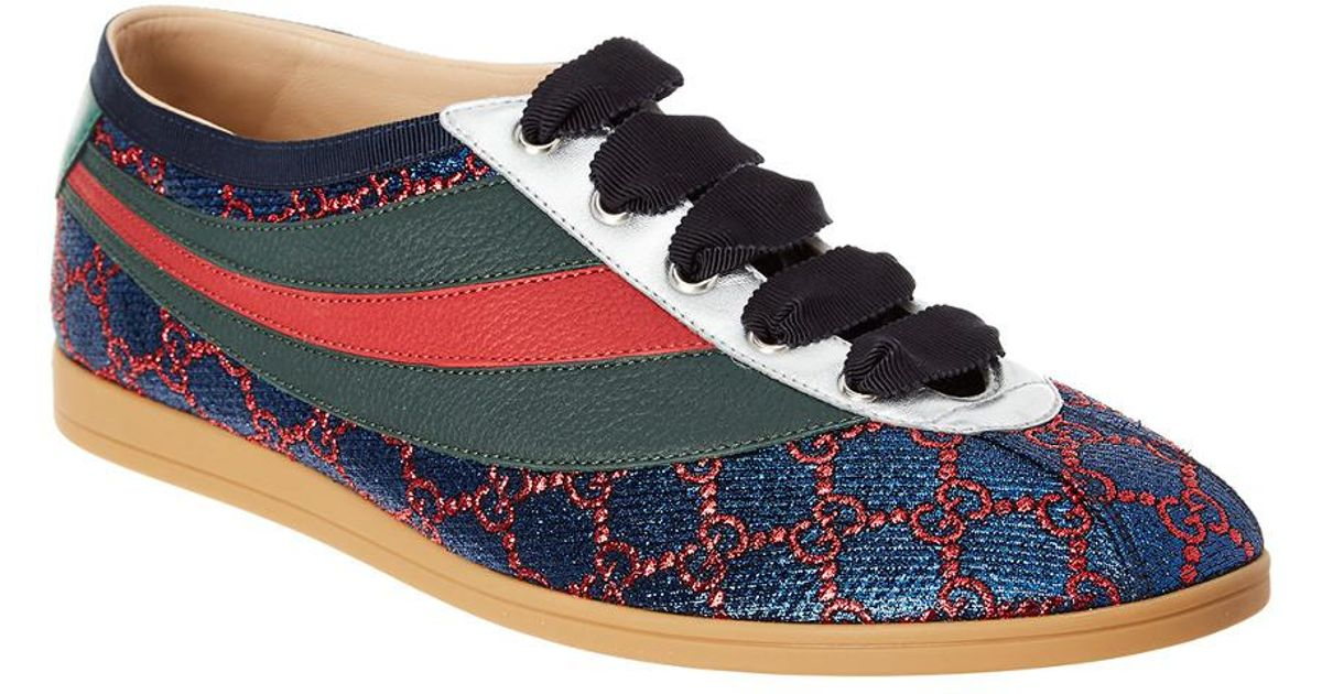 767cc66a721 Lyst - Gucci Falacer Lurex Gg Sneaker in Blue for Men