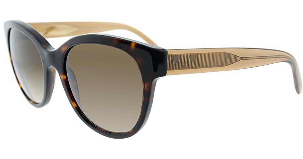 Dark Burberry Be 54 Havana 350613 Round Sunglasses 4187 Lyst vXgqqw 01ed789d670