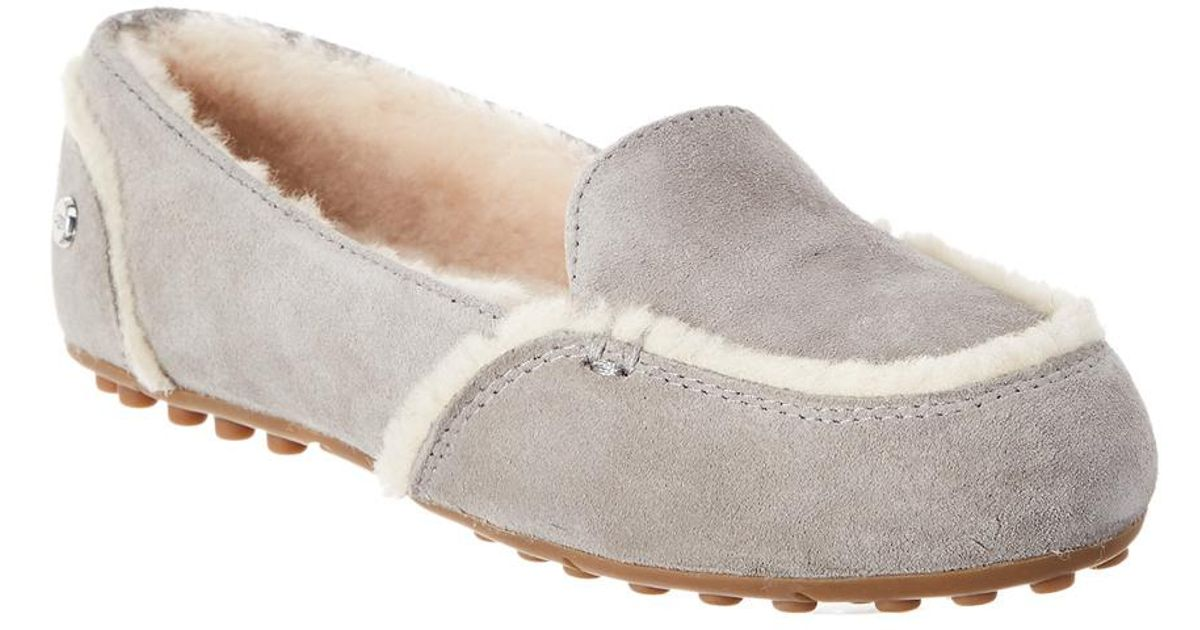 ff52d58104d Lyst - UGG Hailey Suede Slipper in Gray