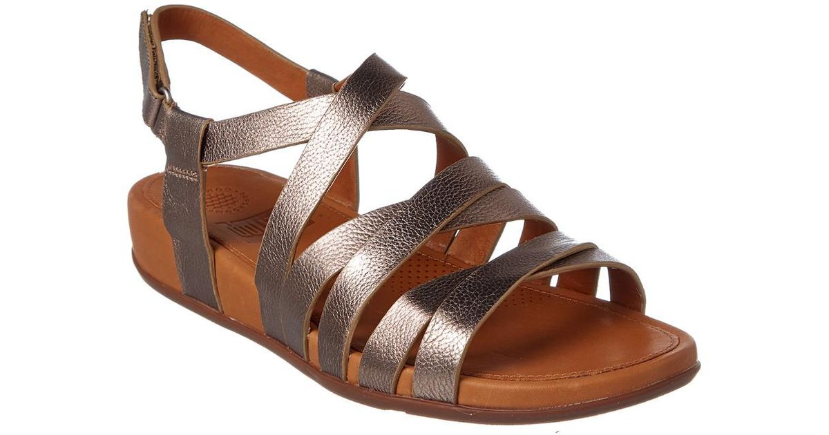 589c31ed43df Lyst - Fitflop Lumy Leather Sandal in Metallic