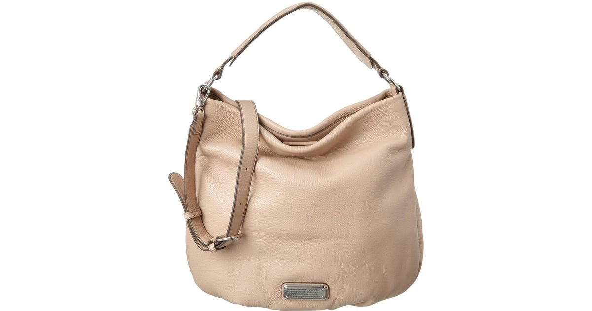 927d7d5e2d25 Lyst - Marc By Marc Jacobs Q Hillier Leather Hobo in Natural
