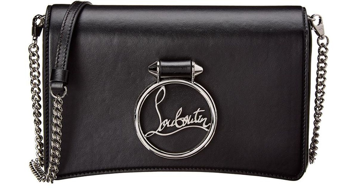63cb7e61694 Christian Louboutin - Black Mini Rubylou Leather Shoulder Bag - Lyst