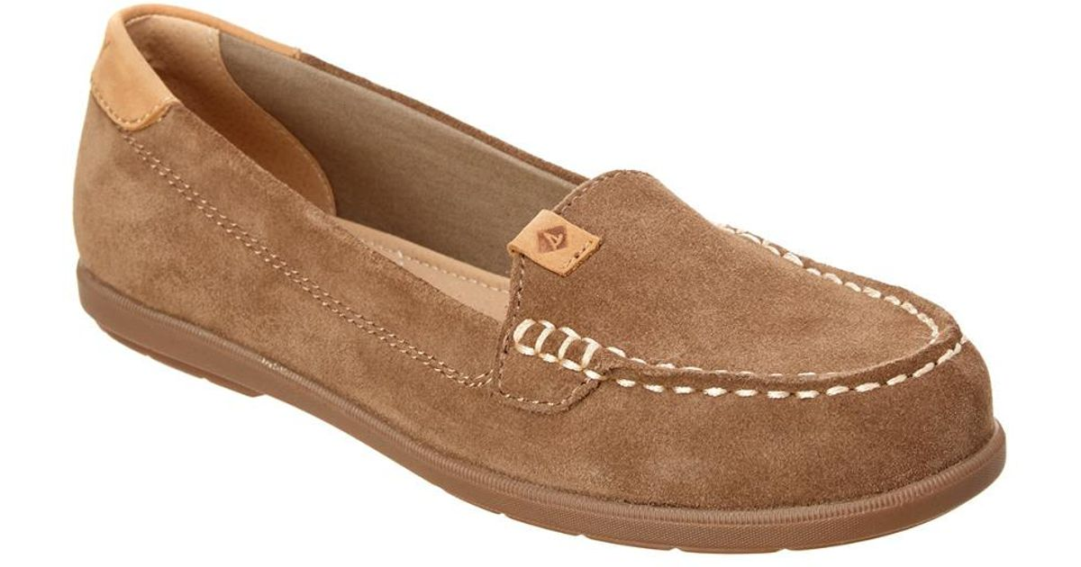 6d9a6967173 Lyst - Sperry Top-Sider Women s Coil Mia Suede Boat Shoe in Brown