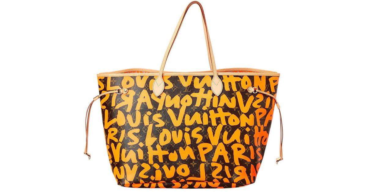 dfcfa78f9f6 Louis Vuitton Multicolor Limited Edition Stephen Sprouse Orange Graffiti  Monogram Canvas Neverfull Gm