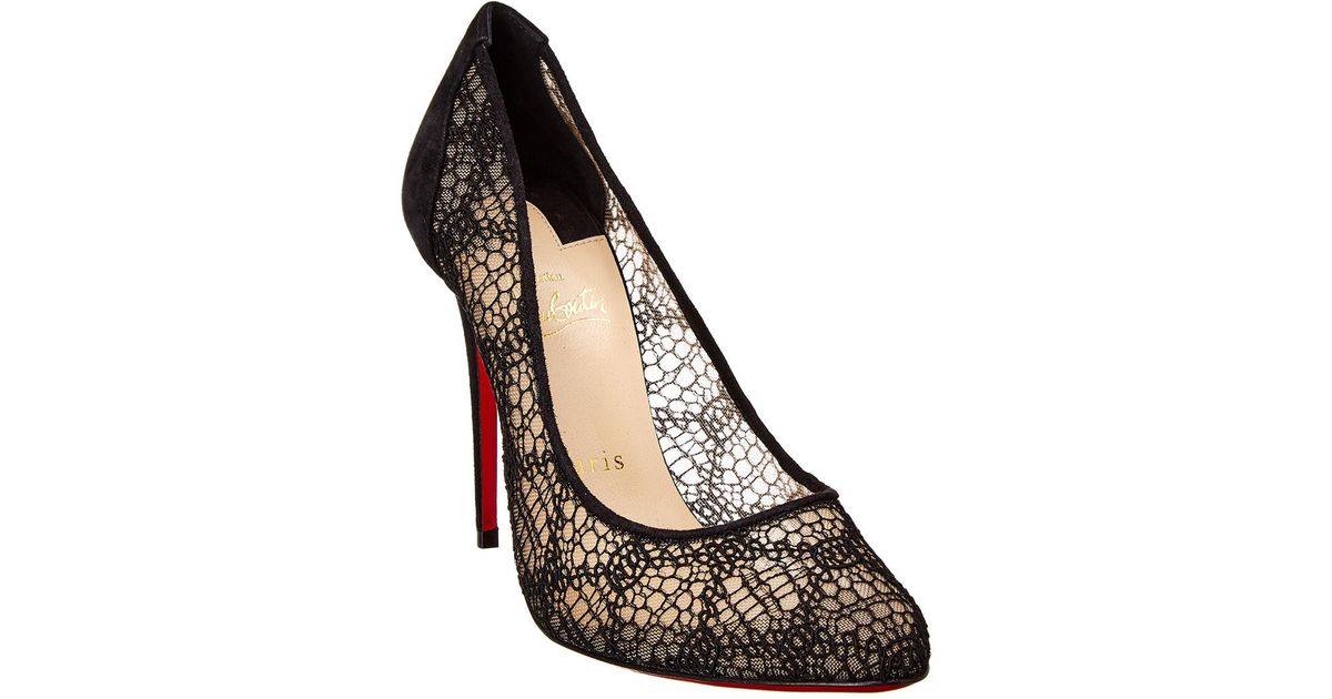 lower price with vast selection pretty cool Christian Louboutin Black Eloise 100 Lace Pump