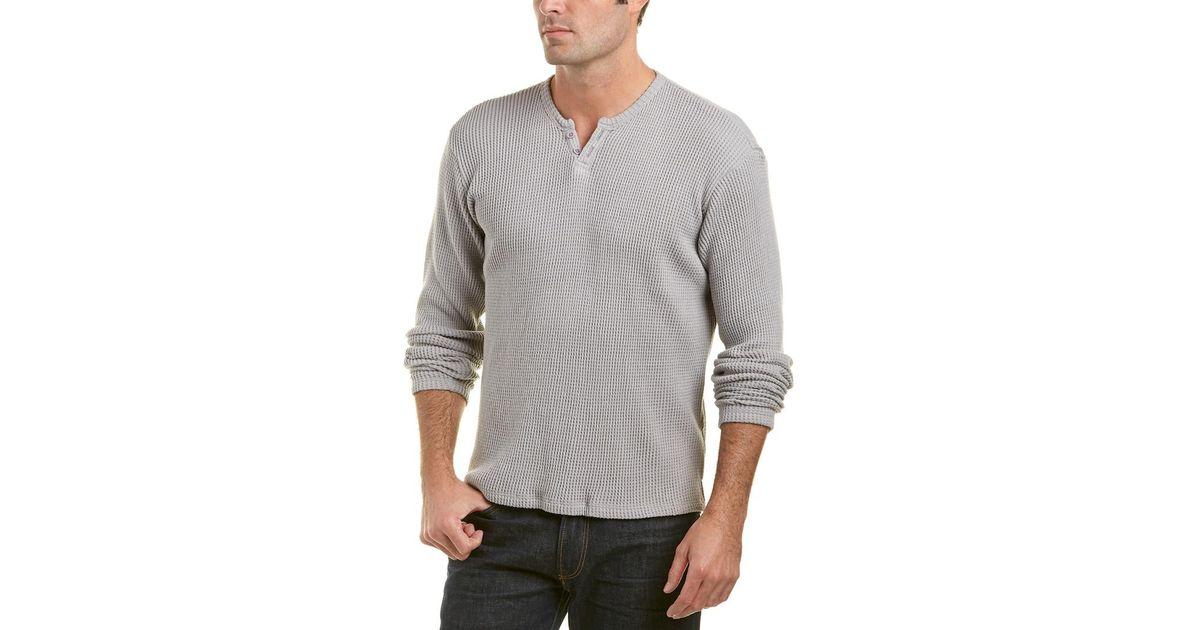 4988e372 Lyst - Joe's Jeans Waffle-knit Henley in Gray for Men