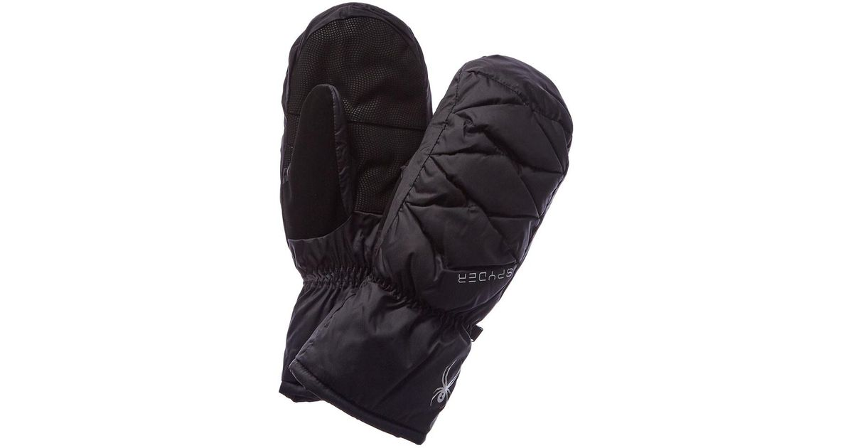 d56dc2923 Lyst - Spyder Women's Candy Down Ski Mittens in Black