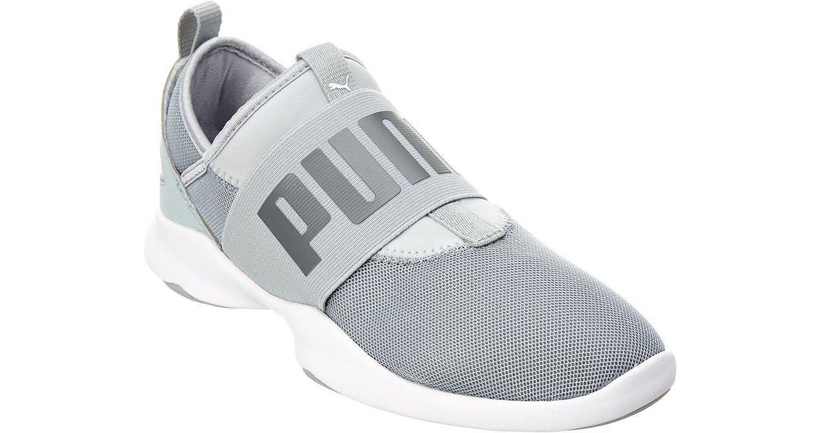 PUMA Women's Dare Mesh Slip-on in Grey (Gray) - Lyst