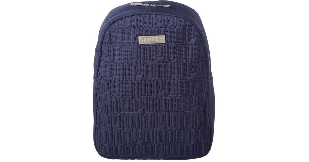 Illinois grano Comercio  PUMA Alpha Mini Backpack in Navy (Blue) - Lyst