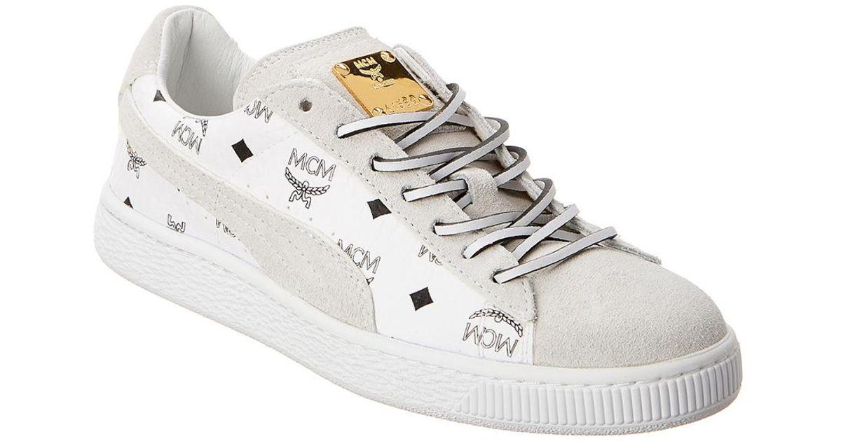 MCM X Puma Suede \u0026 Leather Sneaker in