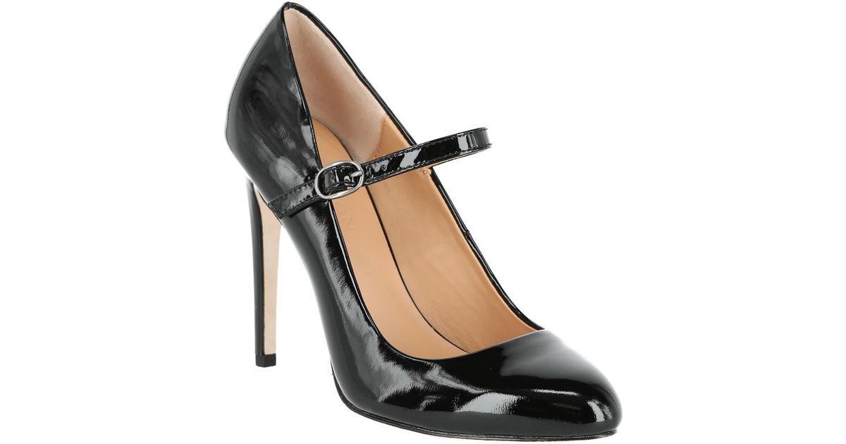 298f72b4230a Lyst - Halston Carol Leather Mary-jane Pump in Black